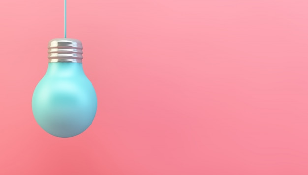 Lâmpada azul rosa