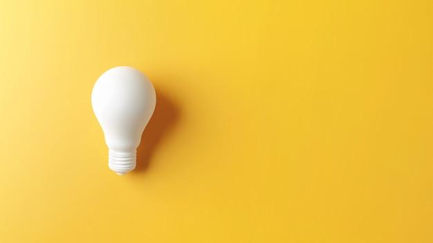 Lâmpada branca como conceito de criatividade