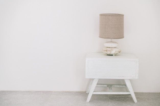 Lâmpada branca decoração de mesa do hotel