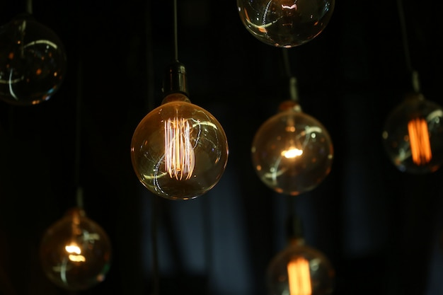 Lâmpada bulbo de tungstênio vintage