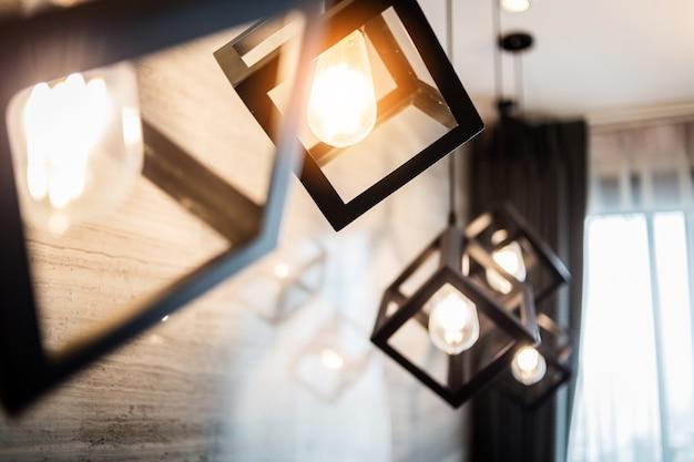 Lâmpada de lâmpada pingente de estilo retro antigo