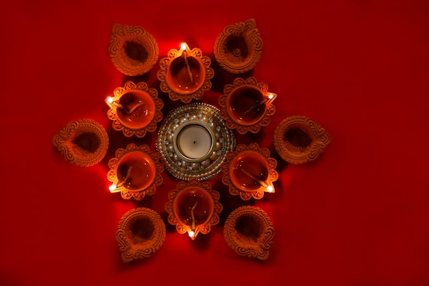 Lâmpada de óleo de diwali