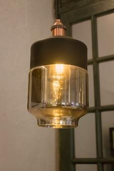 Lâmpada de suspensão de cobre elegante
