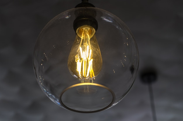 Lâmpada de teto de iluminação de pingente vintage