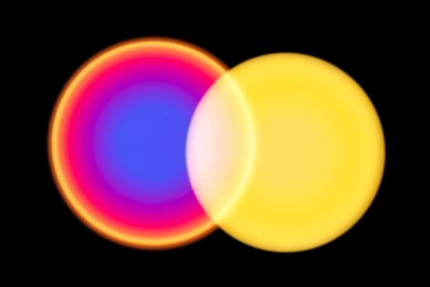 Lâmpada do projetor do pôr do sol com efeito de luz led gradiente