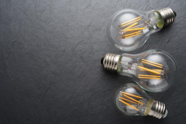 Lâmpadas de filamento led transparentes modernas