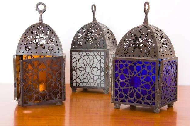 Lâmpadas egípcias - três peças