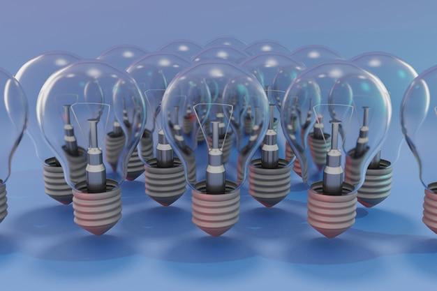 Lâmpadas elétricas 3d