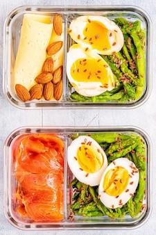Lancheira saudável e balanceada, almoço com dieta cetogênica