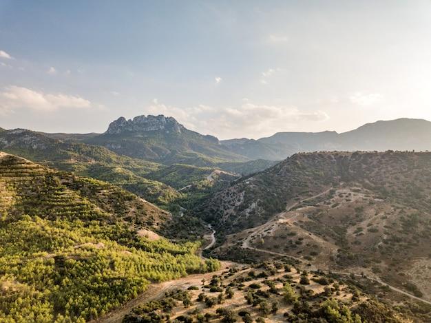 Lanscapes of kyrenia (girne) é uma cidade na costa norte de chipre. 2020