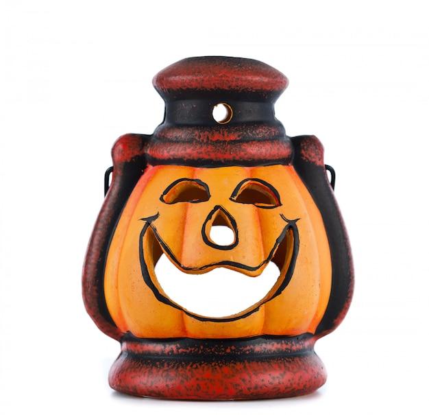 Lanterna de abóbora com vela