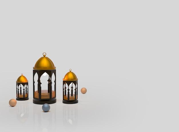 Lanterna de fundo para decoração islâmica de ramadã