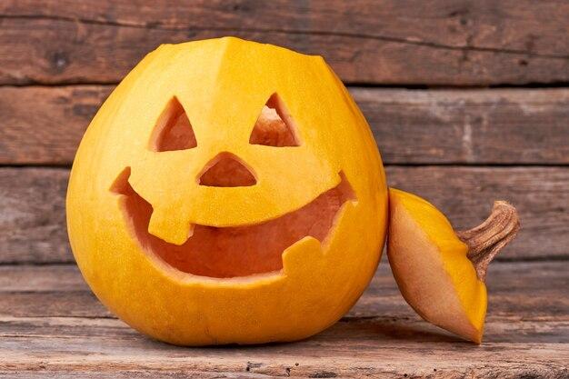 Lanterna de jack de cabeça de abóbora de halloween.