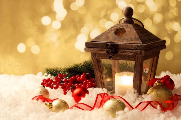 Lanterna e decorações de natal