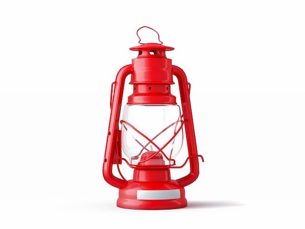 Lanterna vermelha acesa à moda antiga