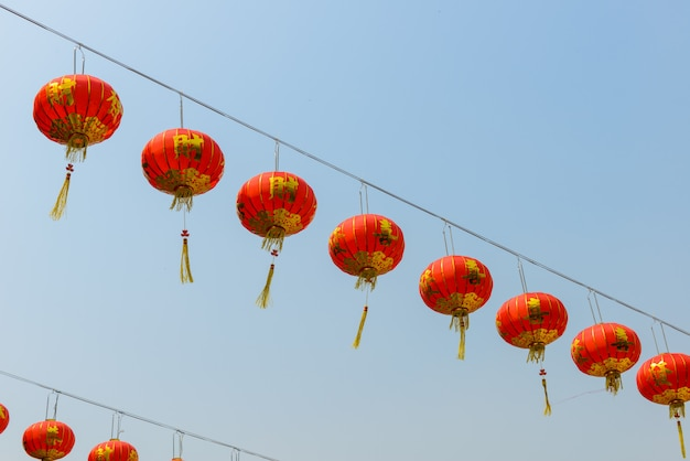 Lanternas chinesas durante o festival de ano novo