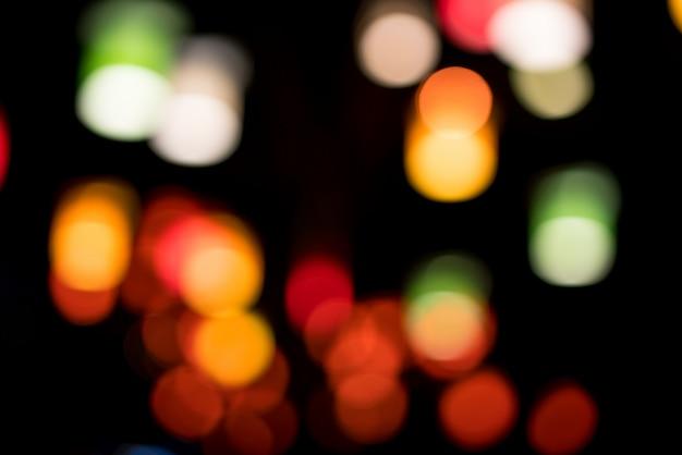 Lanternas no parque da cidade à noite