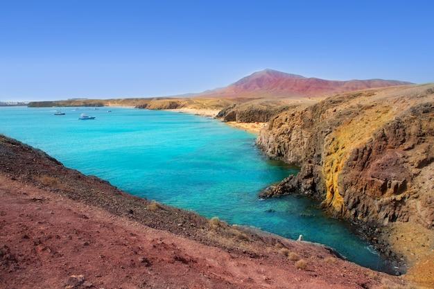 Lanzarote playa del pozo praia costa papagayo