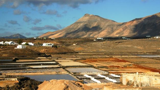 Lanzarote salinas salinas de janubio coloridas ilhas canárias