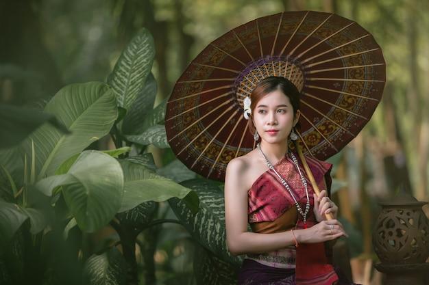 Lao, menina, vestido, em, tradicional, lao, roupas bonito, laos, menina, em, laos, traje