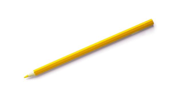 Lápis amarelo são isolados em uma superfície branca