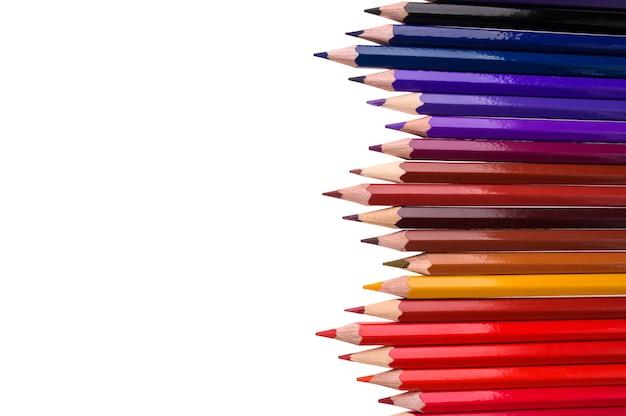 Lápis coloridos com espaço de cópia