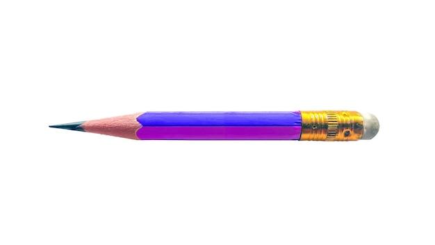 Lápis curto isolado.