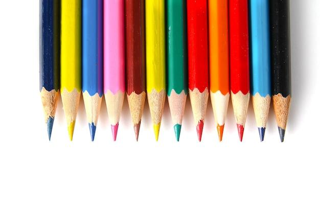 Lápis de cor em espaço em branco