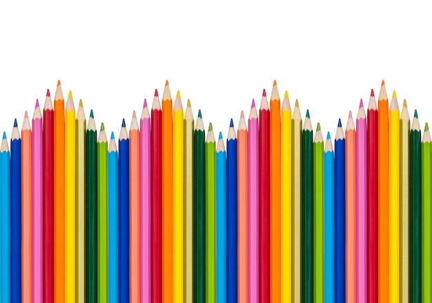 Lápis de cor isolado em fundo branco