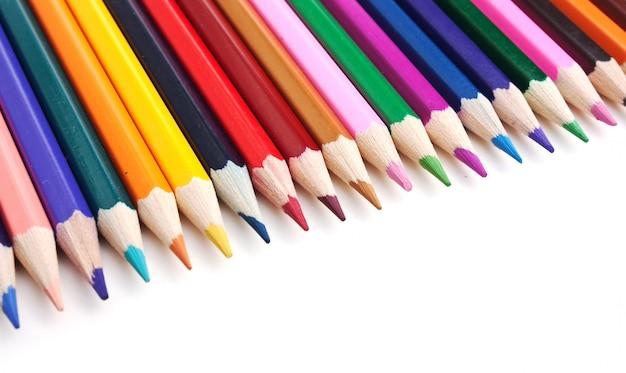 Lápis de cor, isolados em um fundo branco