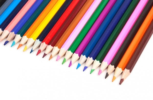 Lápis de cor isolados