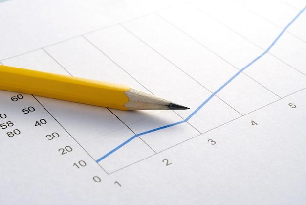 Lápis e gráfico