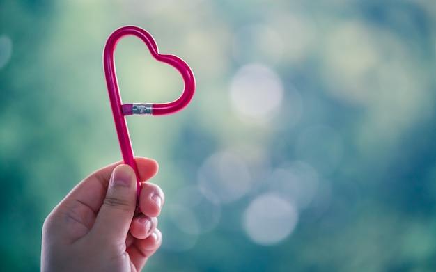 Lápis em forma de coração