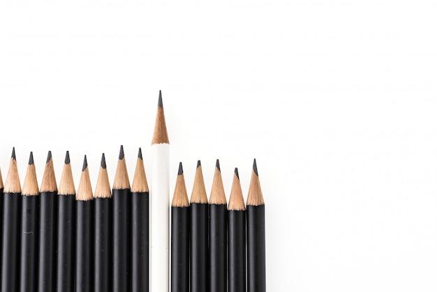 Lápis isolado no fundo branco