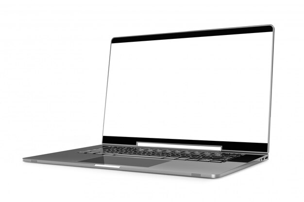 Laptop cor metálica mock-up