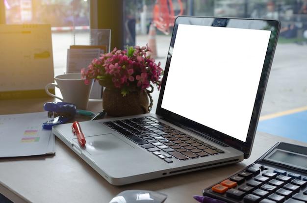 Laptop e gráfico