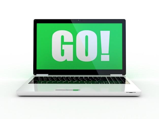 Laptop em branco