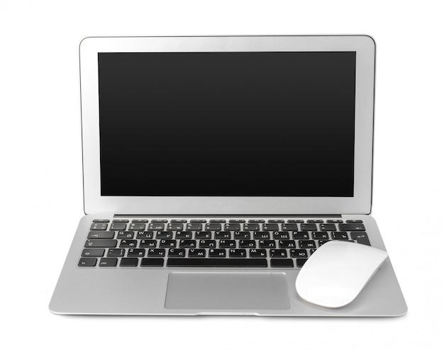 Laptop isolado no branco