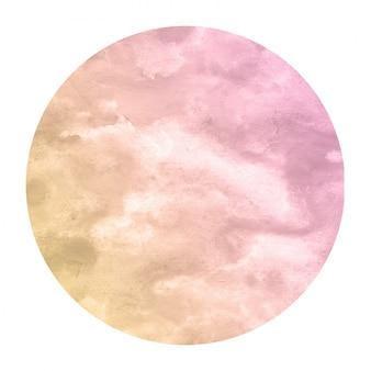 Laranja morna mão desenhada textura de fundo quadro aquarela circular com manchas