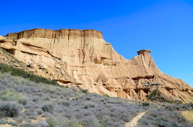 Las bardenas reales, reserva natural e reserva da biosfera, navarra, espanha