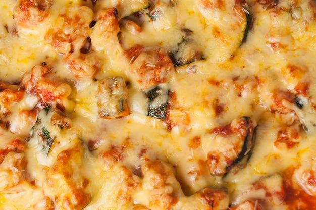 Lasanha de legumes close-up