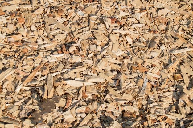 Lascas de aparas de madeira, padrão de material natural