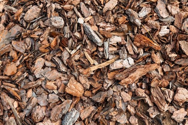Lascas de madeira ou superfície de textura de serragem, padrão de superfície