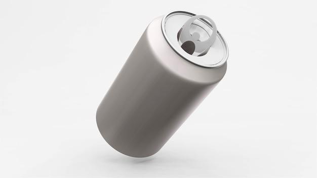 Lata de alumínio ou maquete de refrigerante