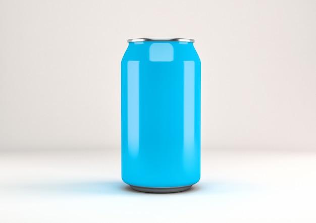 Lata de refrigerante azul