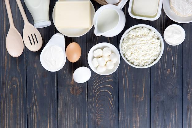 Laticínios e ovos na cozinha