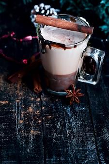 Latte de café com caramelo