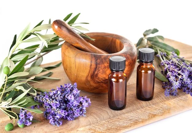 Lavanda e óleos essenciais