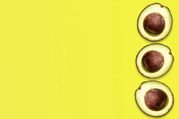 Layout criativo feito de abacate