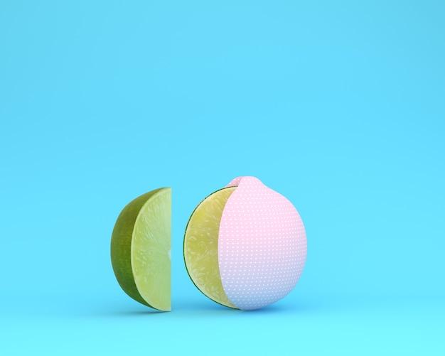 Layout criativo feito de limão